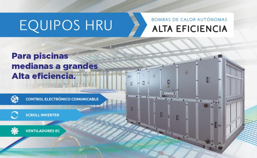 Deshumidificadora para piscinas de Alta Eficiencia HRU