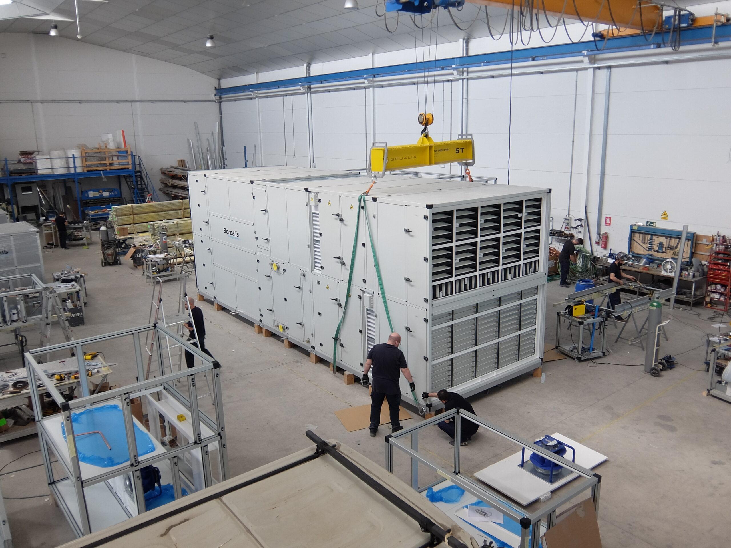 Unidad de tratamiento de aire de alta temperatura