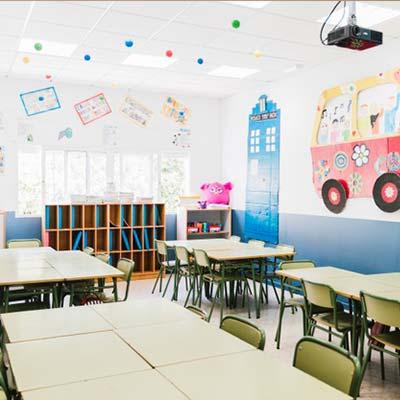 colegios con lamparas ultravioleta covid19