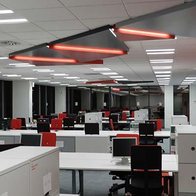 oficinas con sistemas ultravioleta contra el covid 19